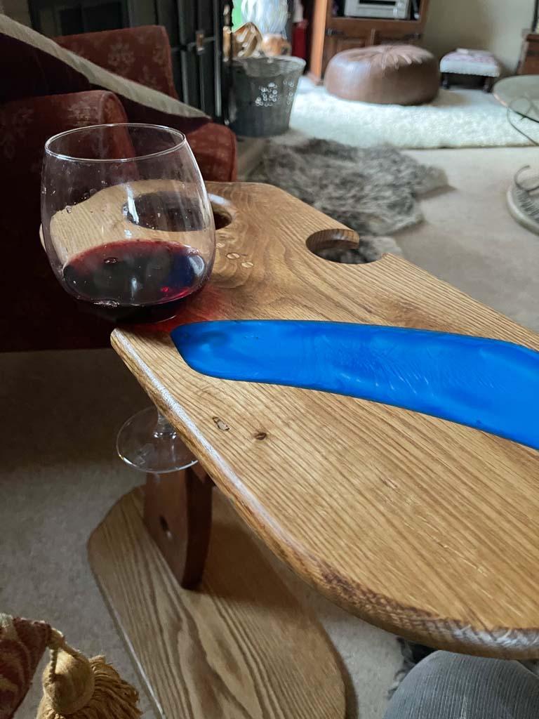 Wine Table Epoxy Top